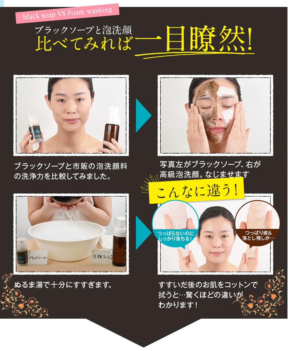 泡洗顔と比べてください